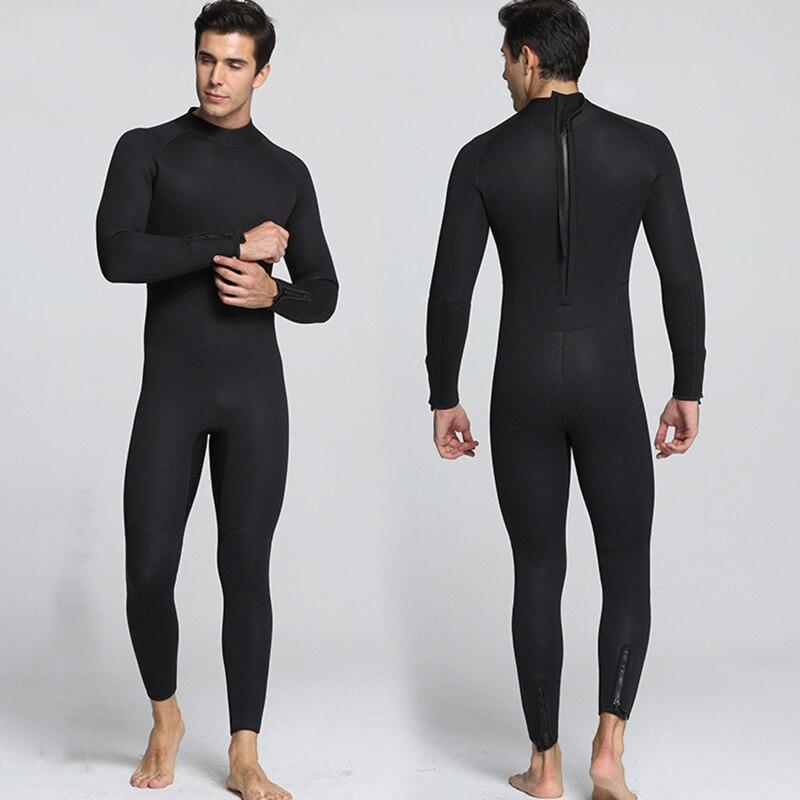 Combinaison néoprène fourreau 5 MM maillot de bain complet manches longues surf combinaisons de plongée sous-marine pour hommes voile combinaison de pêche sous-marine