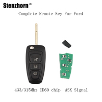Stenzhorn 3Buttons Car Remote Key Fob DIY For Ford Focus Mondeo 1999 2000 2001 2002 20003