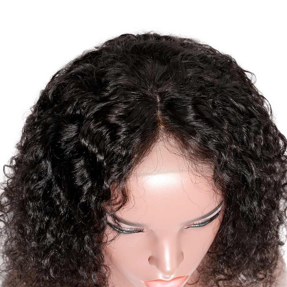 Ms Lula короткие вьющиеся волосы на шнурках спереди боб парики с предварительно сорванными бразильскими Человеческие волосы remy 4x13 волосы на лобовой основе парик