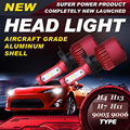 2xNew Red H4 H7 H11 9005 9006 H13 Car LED Headlight Bulbs 80W 9600LM CREE XHP50 Chips All in one LED Headlamp Fog Lamp 6500K 12V