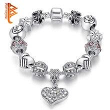 Bangles позолоченный люксовый бусы серебряный браслеты браслет кристалл изделия бренд ювелирные