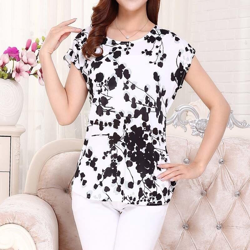 T-shirt floral en coton style d'ét ...