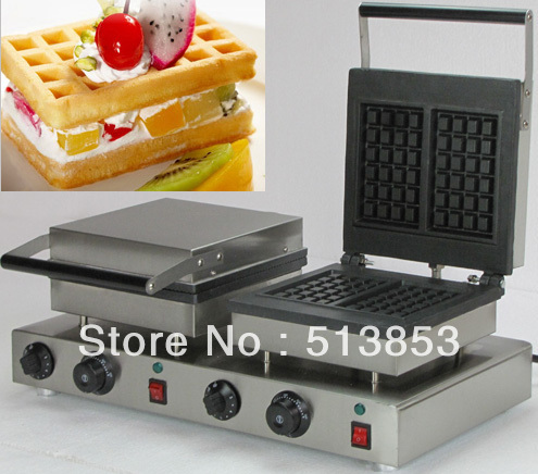Free Shipping,Double Rectangle Waffle Machine/Waffle Iron machine vibration type pneumatic sanding machine rectangle grinding machine sand vibration machine polishing machine 70x100mm