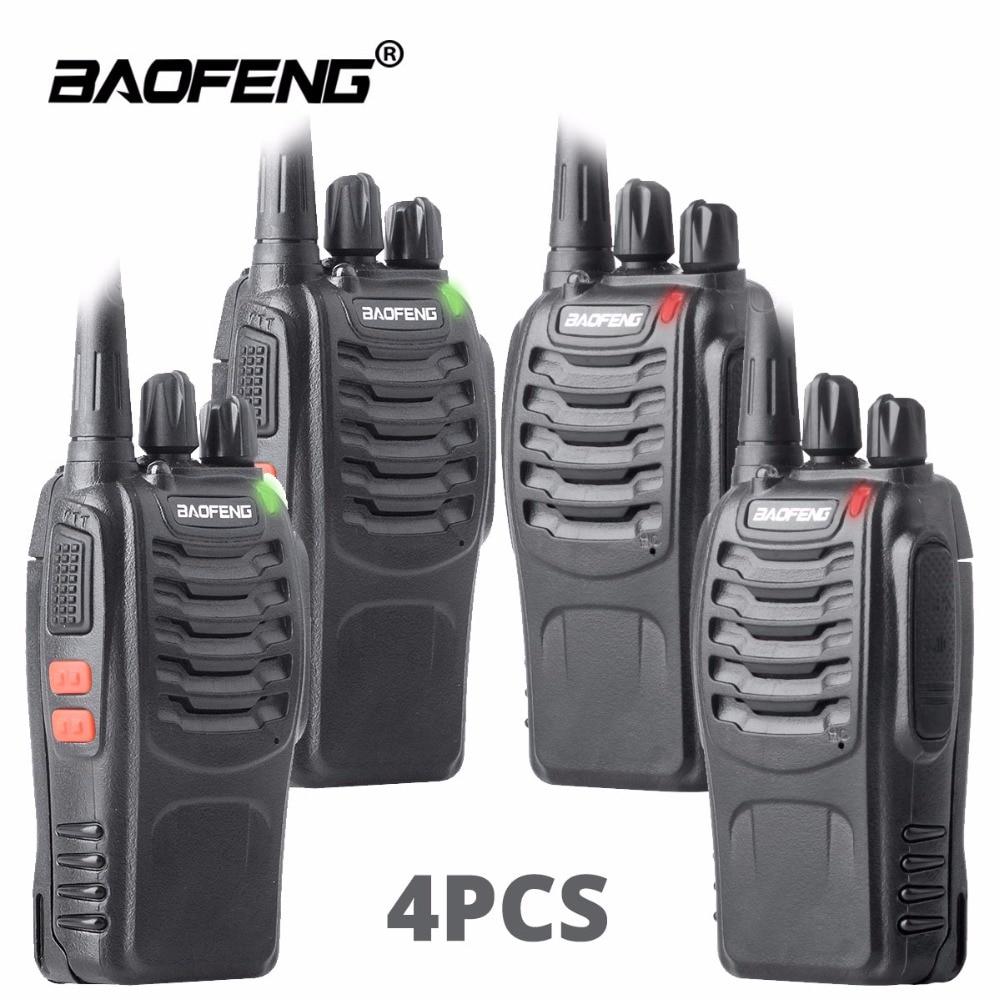 4pcs walkie talkie baofeng bf-888s ham radio station UHF 16CH BF888s Dua cara radio mudah alih pasukan transceiver untuk memburu Luaran