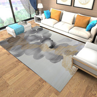 Polypropylene Gold Cuved Rugs And Carpets For Living Room Thick Bedroom Rugs Study Room Floor Mat Nordic Style Home Carpet Kids