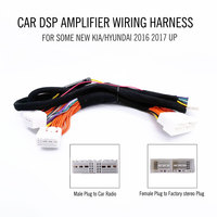 Car DSP Amplifier wiring harness ISO cable Special Tail Line Plug and play for NEW Kia HYUNDAI 2019 carnival Elantra 2018 etc