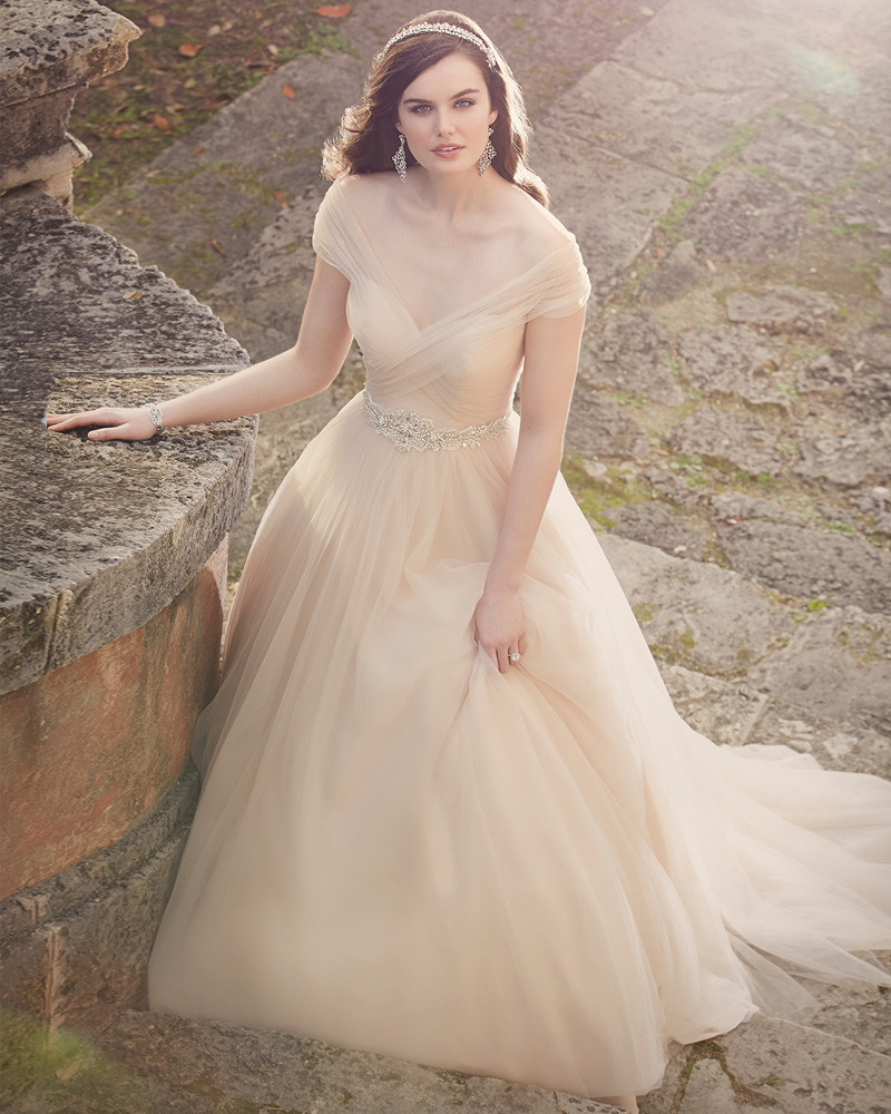 Champagne Pink Wedding Dress - Wedding Dresses