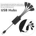 Многофункциональный USB 2,0 4 порта хаб расширения/сплиттер адаптер для ноутбука ПК usb зарядный кабель концентратор - фото