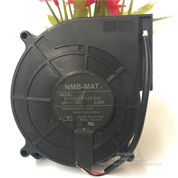 NMB-MAT BT1002-B042-00L Server Blower Fan DC 12V 0.25A 107x101x25mm 3-wire nmb mat 3110kl 04w b49 b02 b01 dc 12v 0 26a 3 wire server square fan