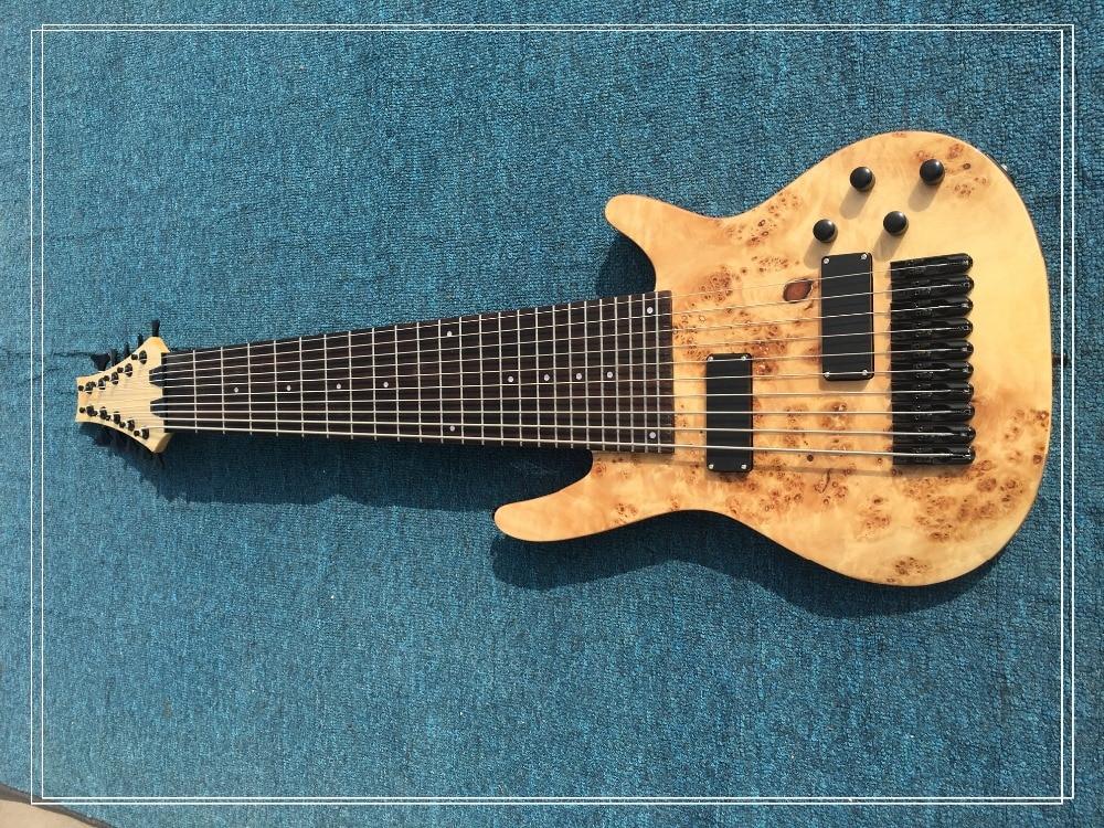 Belle guitare basse électrique chine magasin personnalisé fait 24 fret couleur bois naturel haute qualité livraison gratuite