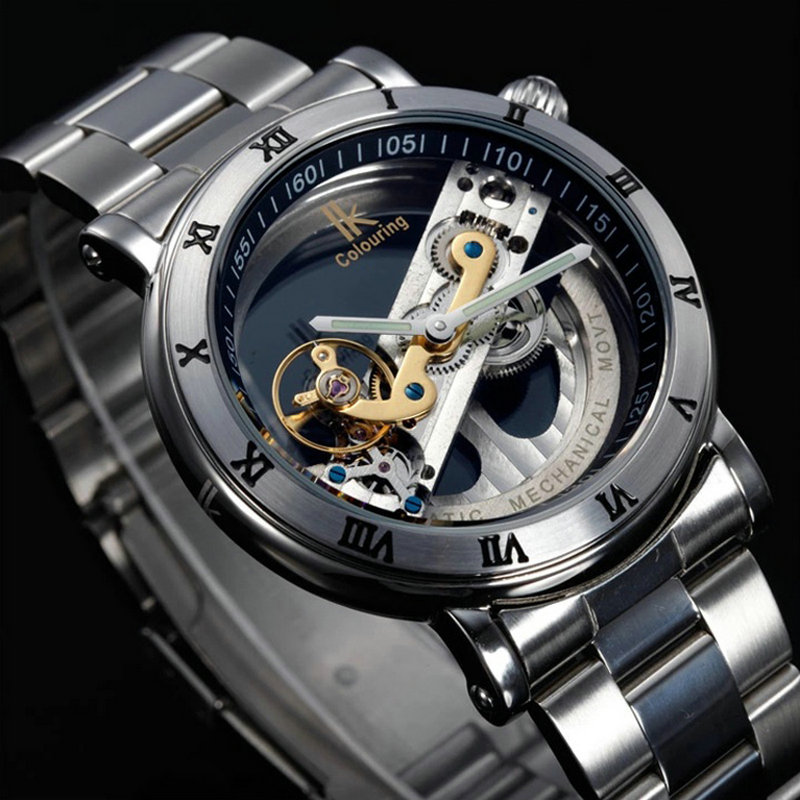 Original Tourbillon Mechanical Wrist watches men luxury brand business skeleton automatic men self wind Top brand