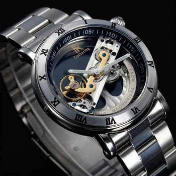 Original  Tourbillon Mechanical Wrist watches men luxury brand business skeleton automatic men self wind Top brand relojes new - DISCOUNT ITEM  0% OFF All Category
