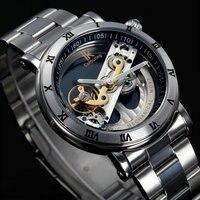 Originele Tourbillon Mechanische horloges mannen luxe merk business skelet automatische mannen zelf wind Top merk relojes nieuwe