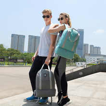 Waterproof Oxford Large Travel Bag Double Layer Beach Bag Travel Organizer Back Pack Duffle Bags Women Portable Weekend Bags