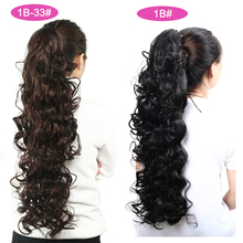 Long curly Claw Clip Ponytail Synthetic Hairpieces