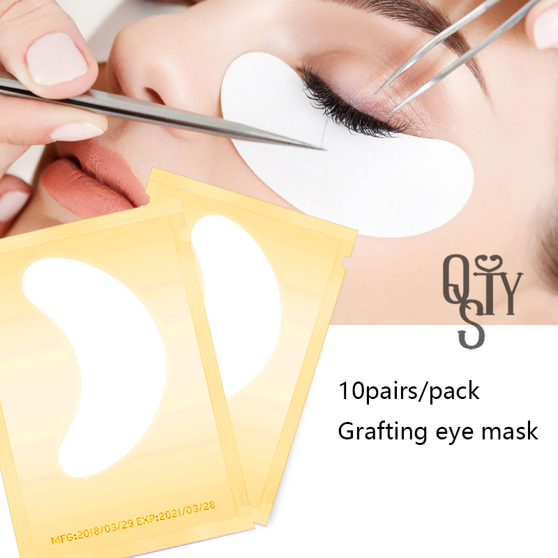 10pairs Eyelash Extension Paper Patches,New Paper Patch Eyelash Under Eye Pads Lash Eye Tips Sticker Wraps Make Up Tools