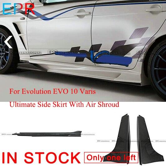 עבור האבולוציה EVO 10 Varis פחמן סיבי אולטימטיבי צד חצאית עם אוויר תכריכים אביזרי ערכת גוף