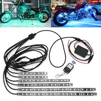 6 Pcs 5050 SMD Strip Flexible RGB Flashing Light LED Remote Control Motorcycle