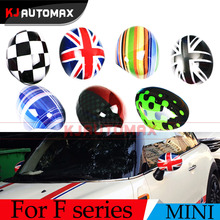 2pcs For Mini Cooper F54 F55 F56 Rearview Side Outside Mirror Cover Shell Accessories union jack