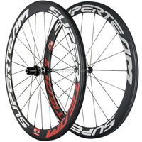 슈퍼 라이트 탄소 wheelset 관형 superteam 탄소 도로 바퀴 dt350 허브 자전거 바퀴 탄소와 스포크