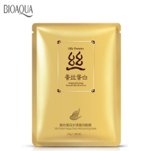 Bioaqua Facial Mask Moisturise Silk Protein Repair Skin Sheet Whitening Face Care Korean Cosmetics