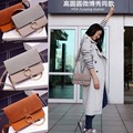 Women Messenger Bags 2017 Spring Summer Nubuck Leather Bag Women Single Versatile Chains Small Bag Women Handbag Beige/Black