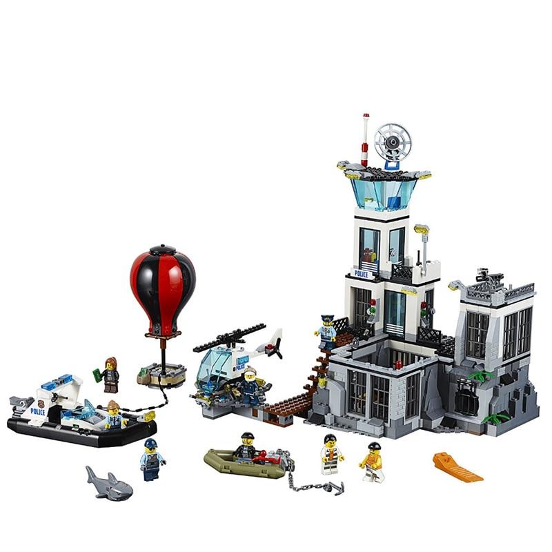 LEPIN CITY series Prison Island Building Blocks Sets Bricks Kids Model Kids Toys For Children Marvel Compatible Legoings 60130 microsoft office excel 2007