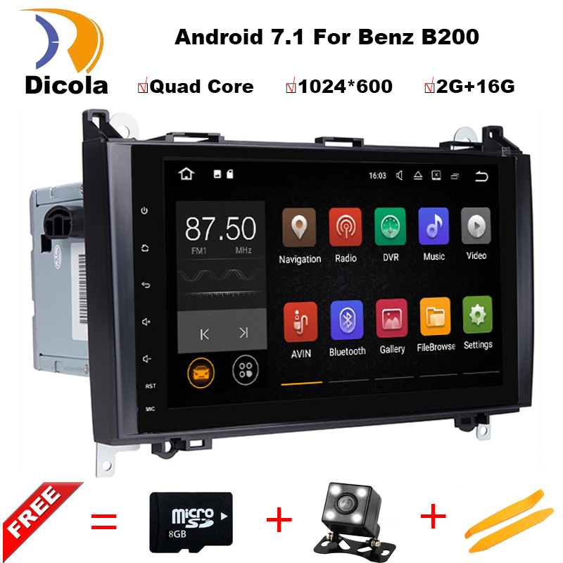 Quad Core 2 din 9 Android 7 11 font b Car b font DVD Player for