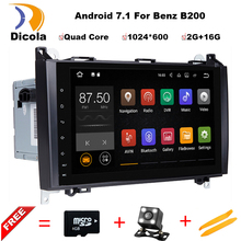 Quad Core 2 din 9″ Android 7.11 Car DVD Player for Benz B200 W169 W245 Viano Vito With GPS 3G WIFI Bluetooth Radio USB 2G RAM