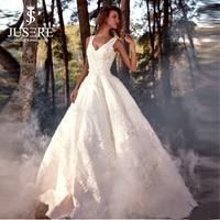 Жесткий heavy Атлас Ткань 3D Вышивка Кружево Украшенные юбка на бретелях v образный вырез Кружево на спине Бусины Паффи линия свадебное платье