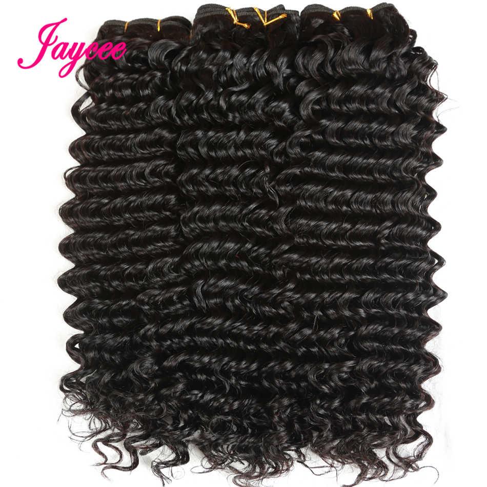 Jaycee brazylijski mocno kręcone włosy 4 wiązki ludzkich włosów splot Bundle oferty doczepy z włosów typu remy Cheveux Humain rozszerzenia