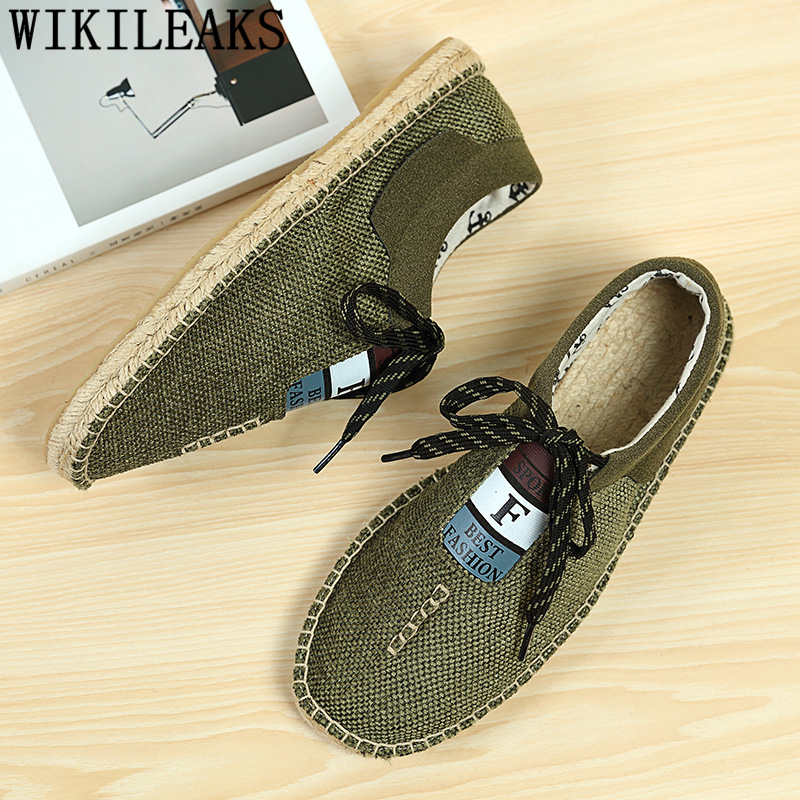 Breathable Shoes Espadrilles Men Loafers Canvas Shoes Men Summer Slip On Shoes Men 2020 Zapatos Hombre Casual Tenis Masculino