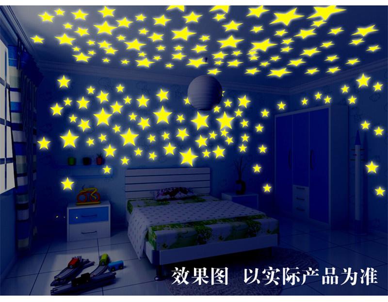 HTB1TwebNpXXXXcdXVXXq6xXFXXXL - New Hot 50pcs 3D Stars Glow In The Dark Luminous Fluorescent Plastic Wall Stickers Living Home Decor For Kids Rooms