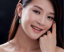 Silver Cats-Eys Stone drop earring