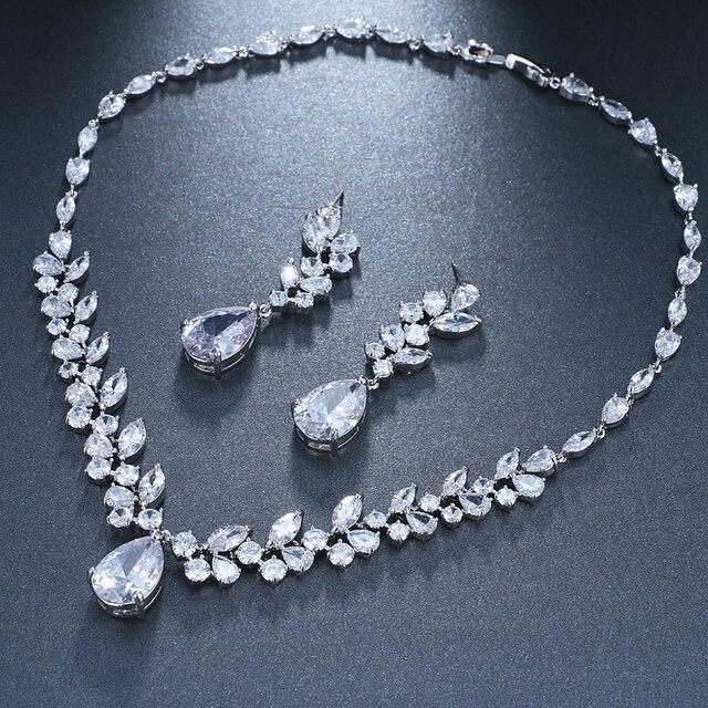 Женский комплект свадебных украшений emmaya набор серебристого