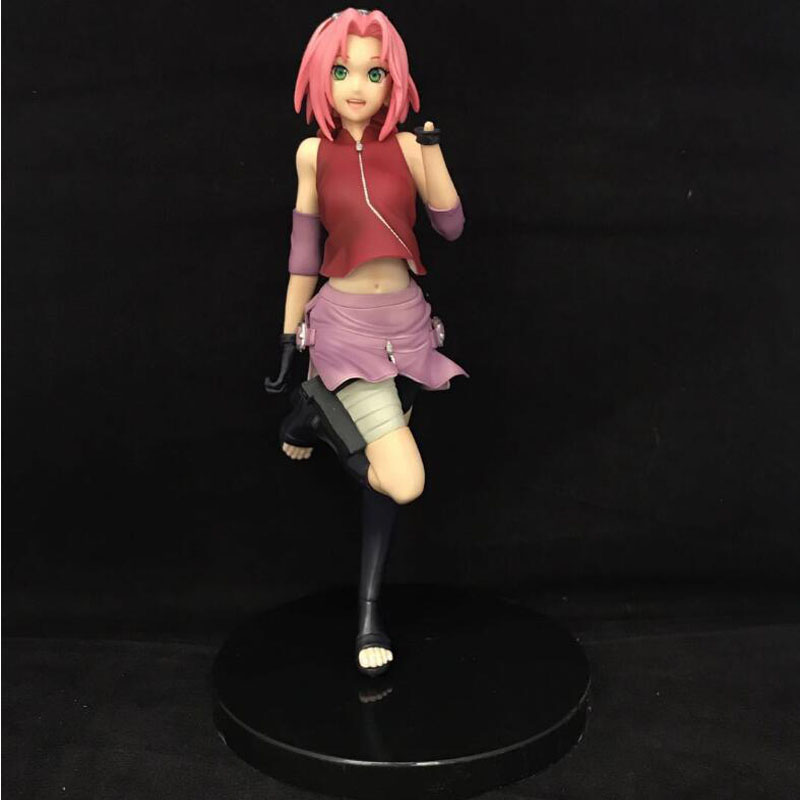 cute japan PVC model toy Shippuden Figure Naruto Gals Sakura Haruno Girls Action Figure becautiful model toy T5077