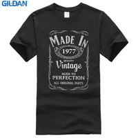 2017 Summer Brand Clothing O Neck Funny Short Sleeve Mens Made In 1977 40Th Year Birthday