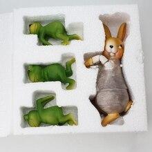 Креативный милый альпинистский кролик бонсай декоративный орнамент подвесной открытый сад цветочный горшок забор декор для домашнего стола Декор