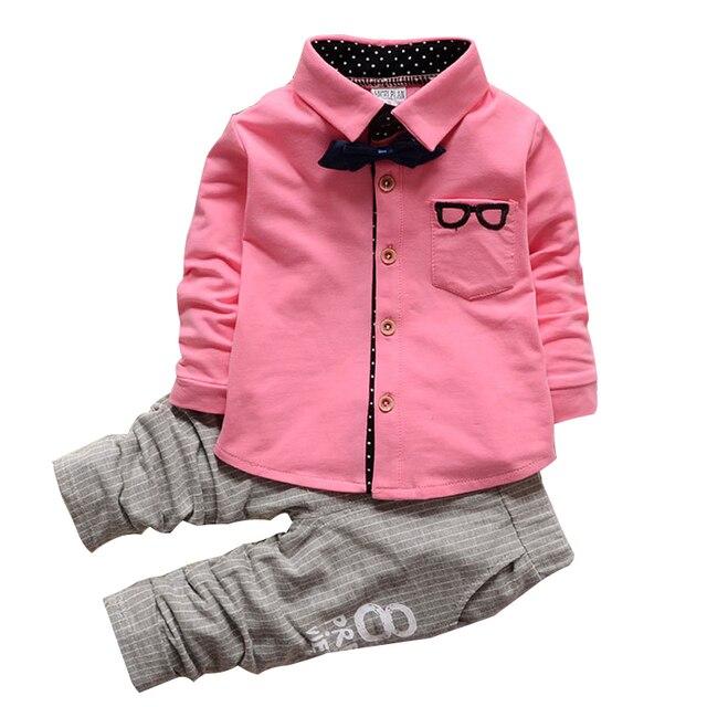 06652bab11e1 Kids clothes Winter long Sleeve t-shirt + pants suit 2Pcs set baby boys  suits sets gentleman toddler boy clothes birthday dress