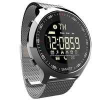 Montre intelligente IP68 étanche 5ATM podomètre rappel de Message longue durée de veille rétro-éclairage Fitness Tracker Bracelet montre-Bracelet