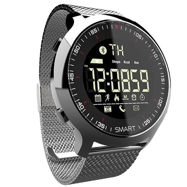 Smart Watch IP68 Waterproof 5ATM Pedometer Message Reminder Long Standby Time Back light Fitness Tracker Wristwatch Bracelet