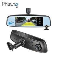 Phisung 7.84 Full HD 1080P WiFi Car DVR Bluetooth 4G Android GPS Navigator Dash Cam Rear View Mirror Video Recorder Registrator