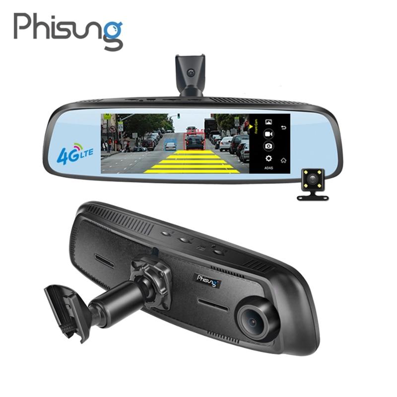 Phisung 7,84 Full HD 1080p Wi Fi автомобильный dvr Bluetooth 4G Android gps навигатор регистраторы зеркало заднего вида видео регистраторы Регистратор