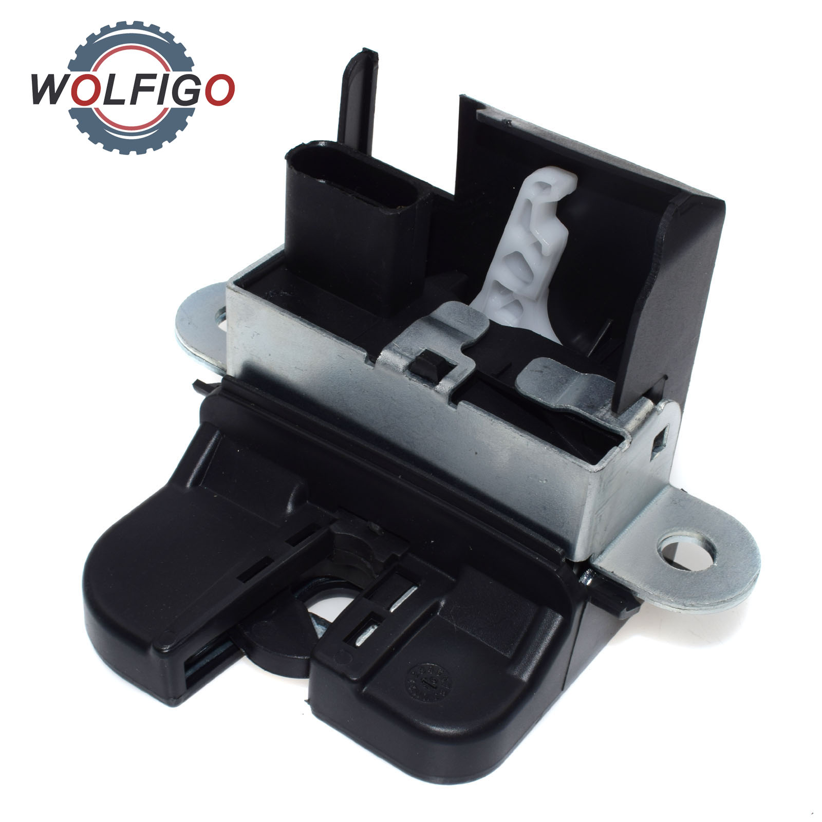 small resolution of wolfigo new tailgate boot rear trunk lid lock latch 1t0827505h 5k0827505a for vw volkswagen touran 2003 2015 golf passat in trunk lids parts from