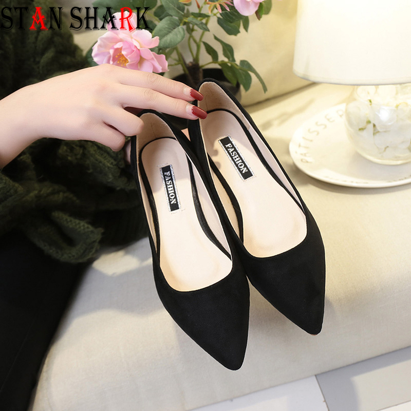New Women Suede Flats High Quality Basic Mixed Colors Pointy Toe Ballerina Ballet Slip On Ladies Loafers Spring Women Flats