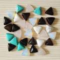 Triangle bead 10MM Charm natural stone beads for making Mixed Fashion Jewelry geometry cabochon 20Pc/lot Free shipping Wholesale