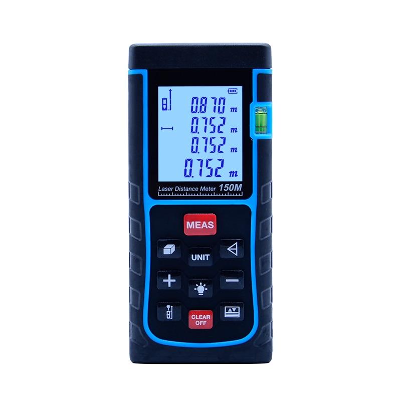 SNDWAY 150M Laser Distance Meter SW-E150 laser Rangefinder Tape Measure Distance/Area/volume diastimeter Range Finder tester