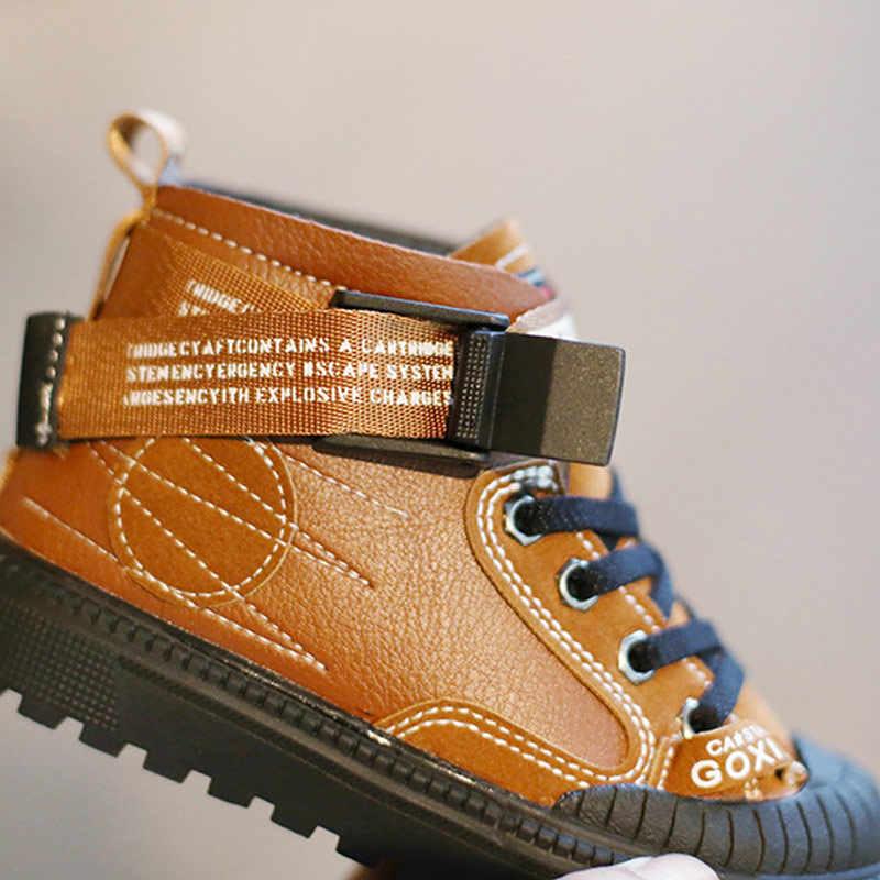 ילדי מגפיים בתוספת קטיפה חם חורף קרסול כותנה נעלי בני בנות אנטי חלקלק חיצוני sneaker