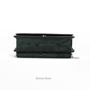Image 5 - XMESSUN Luxury Genuine Python Leather Hand Bags Cross Body Shoulder Bag Snakeskin Designer Day Clutch Chain Crossbody Bag