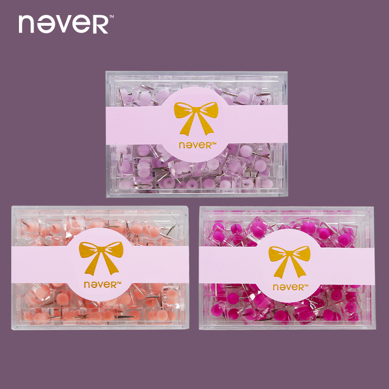 never colored thumbtack nail plastic drawing map pins office accessories for wood cork board painting photo wall gift stationery Never Acrylic Push Pins Photo Pin Metal Thumbtacks Office Accessories Decoratives For Cork Board Wall 80 Pcs Stationery Store